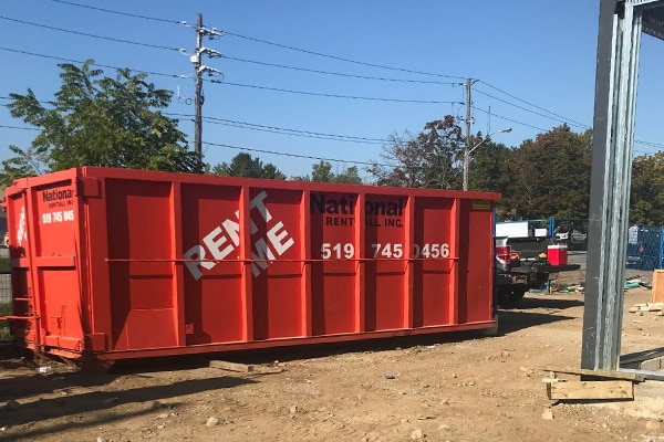 National Bins on the Job Site